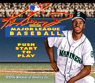 Ken Griffey Jr. Presents Major League Baseball - Screenshot - Game Title