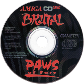 Brutal: Paws of Fury - Disc