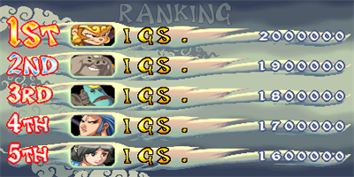 Oriental Legend 2 - Screenshot - High Scores