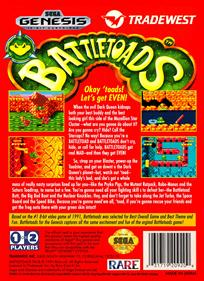 Battletoads - Box - Back