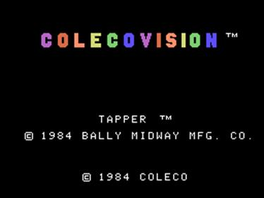 Tapper - Screenshot - Game Title