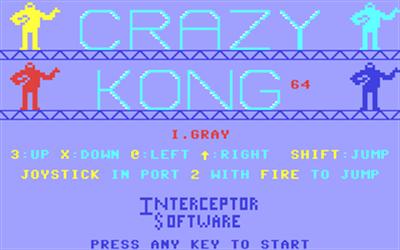 Crazy Kong - Screenshot - Game Title