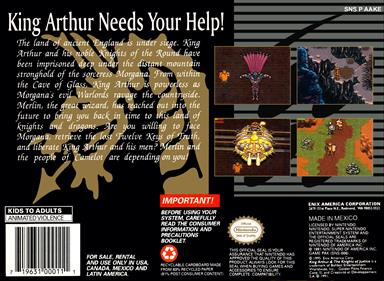 King Arthur & the Knights of Justice - Box - Back