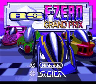 BS F-Zero Grand Prix: Dai-1-shuu: Knight League - Screenshot - Game Title