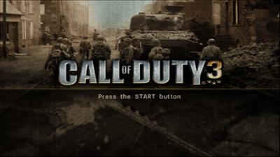 Call of Duty 3 - Screenshot - Game Title
