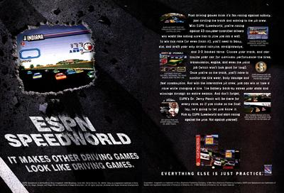 ESPN Speed World - Advertisement Flyer - Front