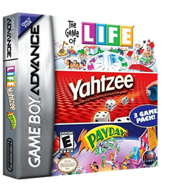 3 Game Pack!: The Game of Life + Payday + Yahtzee - Box - 3D