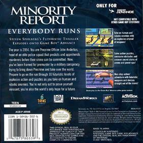 Minority Report: Everybody Runs - Box - Back