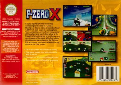 F-Zero X - Box - Back