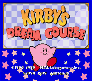 Kirby's Dream Course - Screenshot - Game Title