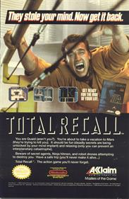 Total Recall - Advertisement Flyer - Front