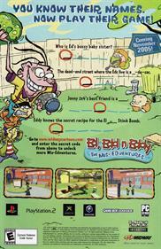 Ed, Edd n Eddy: The Mis-Edventures - Advertisement Flyer - Front