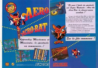 Aero the Acro-Bat - Advertisement Flyer - Front