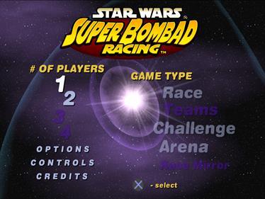 Star Wars: Super Bombad Racing - Screenshot - Game Select