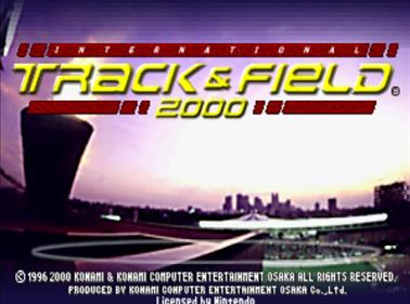 International Track & Field 2000 - Screenshot - Game Title