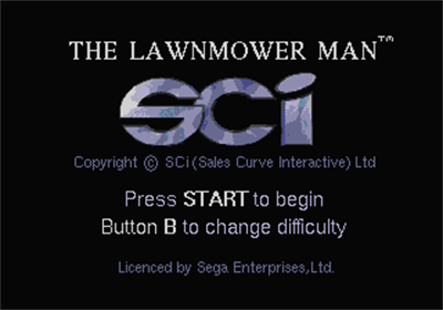 The Lawnmower Man - Screenshot - Game Title