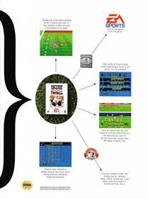 Bill Walsh College Football 95 - Advertisement Flyer - Back