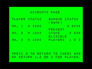 Baccarat - Screenshot - Gameplay