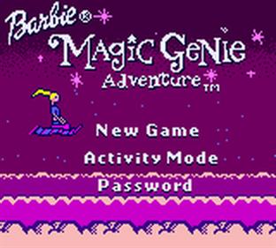 Barbie: Magic Genie Adventure - Screenshot - Game Title