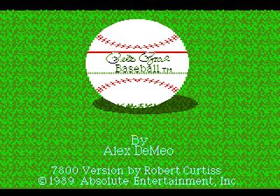 Pete Rose Baseball - Screenshot - Game Title