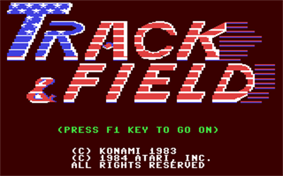 Track & Field - Screenshot - Game Title