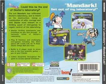 Dexter's Laboratory: Mandark's Lab? - Box - Back