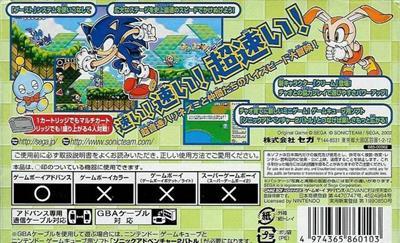 Sonic Advance 2 - Box - Back