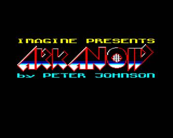 Arkanoid - Screenshot - Game Title