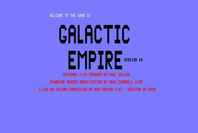 Galactic Invasion 128  - Screenshot - Game Title