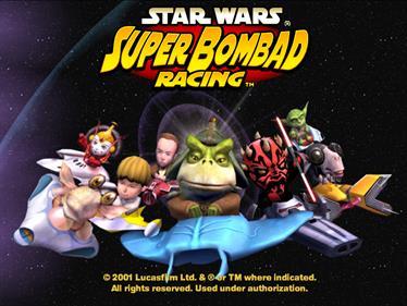 Star Wars: Super Bombad Racing - Screenshot - Game Title