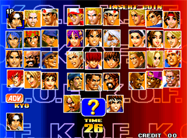The King of Fighters '98: The Slugfest - Screenshot - Game Select