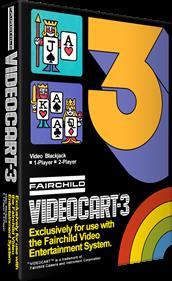 Videocart-3: Video Blackjack - Box - 3D