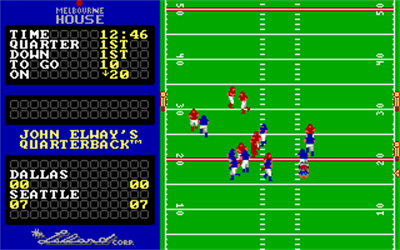 John Elway's Quarterback - Screenshot - Gameplay