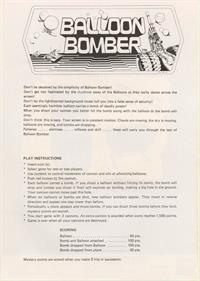 Balloon Bomber - Box - Back