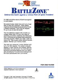 Battlezone - Box - Back