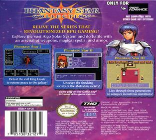 Phantasy Star Collection - Box - Back