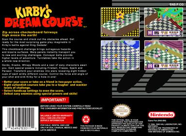 Kirby's Dream Course - Box - Back