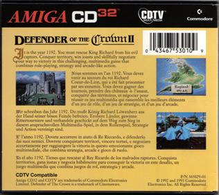 Defender of the Crown II - Box - Back
