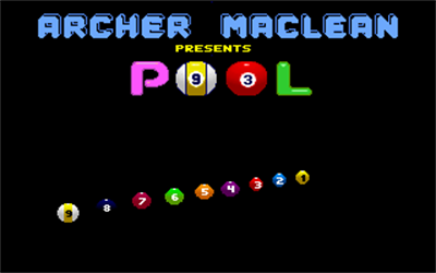 Archer Maclean's Pool - Screenshot - Game Title