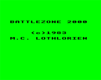 Battlezone 2000 - Screenshot - Game Title