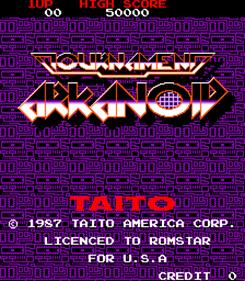 Tournament Arkanoid - Screenshot - Game Title