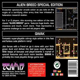 Alien Breed Special Edition & Qwak - Box - Back