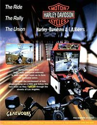 Harley-Davidson & L.A. Riders - Advertisement Flyer - Front