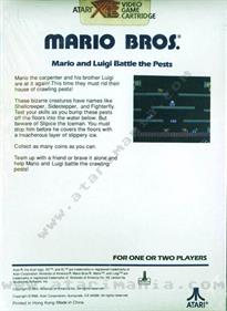 Mario Bros. - Box - Back
