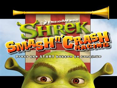 Shrek Smash n' Crash Racing - Screenshot - Game Title