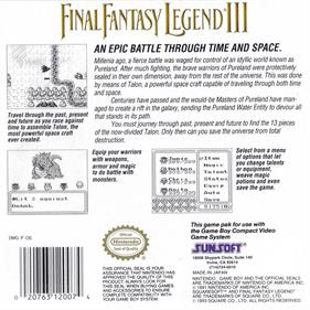 Final Fantasy Legend III - Box - Back