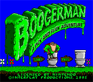 Boogerman: A Pick and Flick Adventure - Screenshot - Game Title