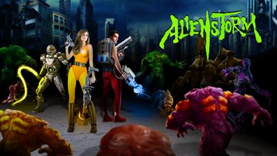 Alien Storm - Fanart - Background