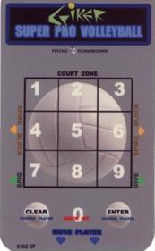 Spiker! Super Pro Volleyball - Arcade - Controls Information