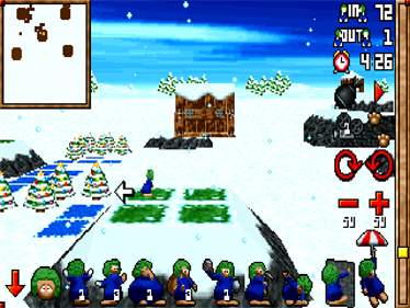 3D Lemmings Winterland - Screenshot - Gameplay